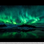 Icelandic Aurora Over Fjallsarlon by Damian Black, Wigan 10