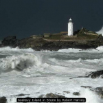 Godrevy Island in Storm by Robert Harvey