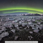 Aurora over Jokulsarlon by Jon Martin, Norfolk