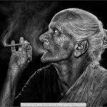 Smoking Lady by Arun Mohanraj, Chorley