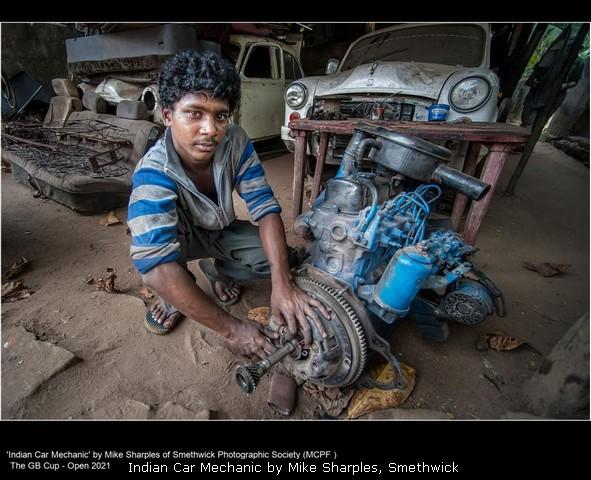 Indian Car Mechanic by Mike Sharples, Smethwick