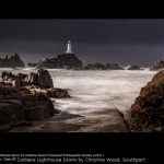 Corbiere Lighthouse Storm by Christine Wood, Southport