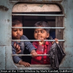 Boys at the Train Window by Mark Randall, Guildford