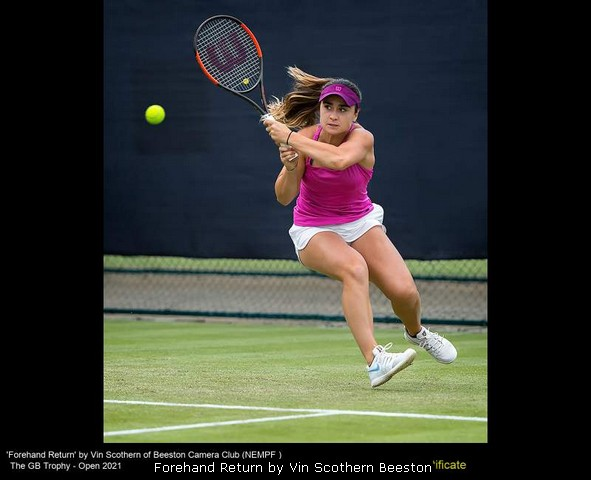 Forehand Return by Vin Scothern Beeston