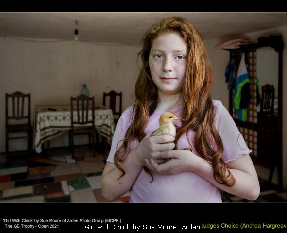 Girl with Chick by Sue Moore, Arden