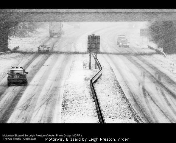 Motorway Blizzard by Leigh Preston, Arden
