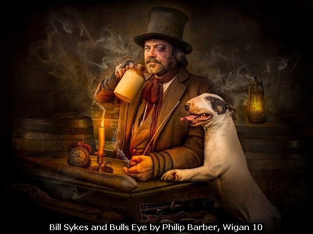 Bill Sykes and Bulls Eye by Philip Barber, Wigan 10