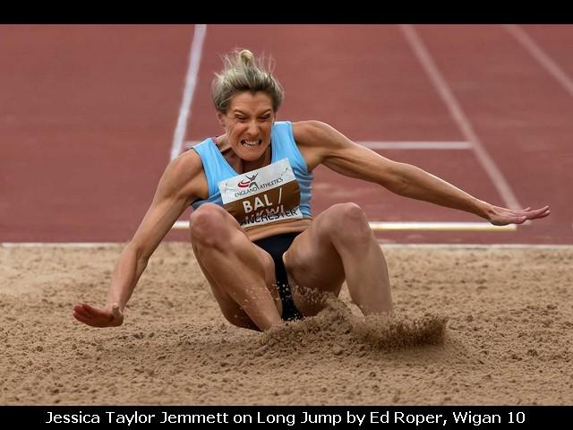 Jessica Taylor Jemmett on Long Jump by Ed Roper, Wigan 10