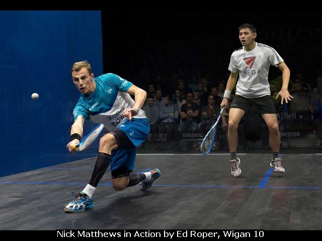 Nick Matthews in Action by Ed Roper, Wigan 10