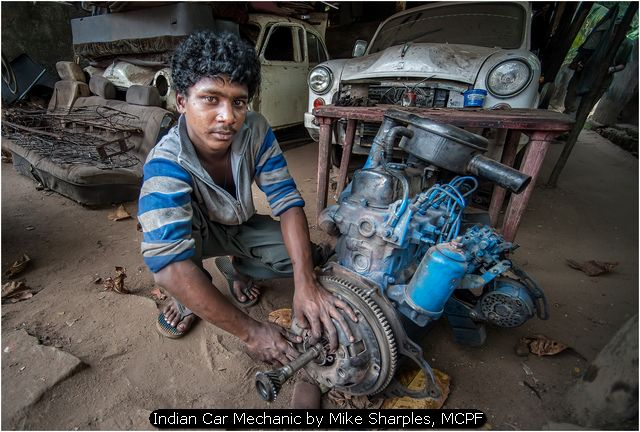 Indian Car Mechanic by Mike Sharples, MCPF