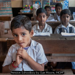 Pensive Schoolboy by Sue Moore, MCPF