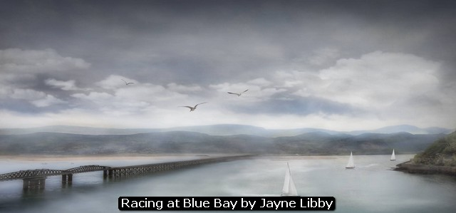 Racing at Blue Bay by Jayne Libby